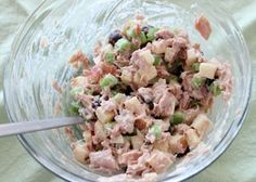 Салат из тунца и яблока