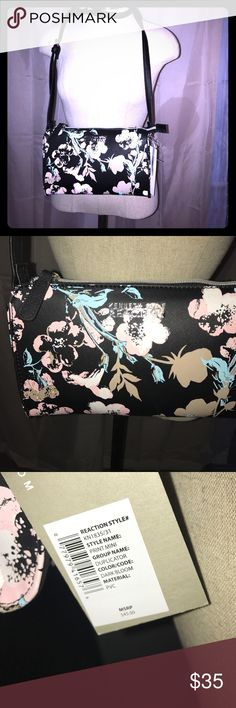 💫🆕 Kenneth Cole Reaction Print Mini Cross body💫 Gorgeous floral print Crossbody Bag! Have large Tote as well look under purses and wallets 😊 Kenneth Cole Reaction Bags Crossbody Bags
