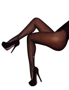 7375d76563d13 CHRLEISURE Women's Sparkle Rhinestone Fishnets Sexy Tights High Waist  Stockings - https://boutiquecloset