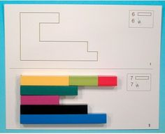 Cartes exercice Cuisenaire - Lär & Lek Petite Section, Math Numbers, 7 And 7, Lek, Goula, Exercise, Cards