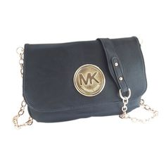 Michael Kors Fulton Messenger Medium Black Crossbody Bags Outlet
