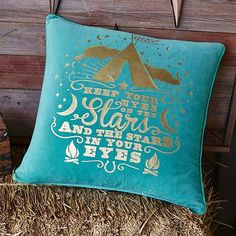 Junk Gypsy Keep Your Eyes On The Stars Pillow Cover #pbteen
