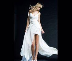 wedding dress-Chiffon wedding dress-Flowy airy by MonikaVenika