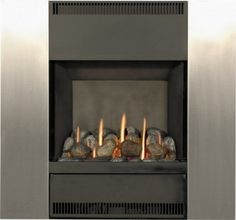 The Burley Image flueless gas fire doesn't need a chimney or fireplace and can operate in any room as long as there is sufficient ventilation. The Image has a heat output of and an efficiency of This fire also has a black and brushed steel Flueless Gas Fires, Chimney Breast, Gas Fireplace, Modern Design, New Homes, Room, House, Image, Home Decor