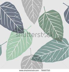 leaves - seamless pattern by lupulluss, via ShutterStock
