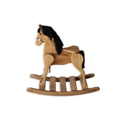 Amish Medium Deluxe Crafted Rocking Horse with Mane