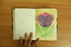 Journal. Illustration. Flower. Color. Sharpie