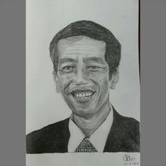 Indonesia's 7th president, Ir. Joko Widodo. Indonesia's president for 2014-2019. Congrats to you sir! I hope you can really bring Indonesia to be a better country  A5 paper, graphite 2B, 4B