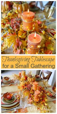 Dining Delight: Thanksgiving Tablescape for a Small Gathering Thanksgiving Table Settings, Thanksgiving Tablescapes, Thanksgiving Feast, Homemade Buns, Basket Tray, Leaf Bowls, Beautiful Table Settings, Little Pumpkin