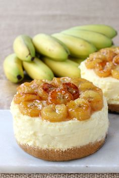 Here's an easy and impressive recipe for No Bake Banana Rum Cheesecake. Recipe from RecipeGirl.com.