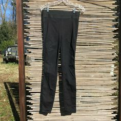 a4cbec8ff47f0 Details about PAIGE Black Skinny Pants with Elastic Waistband