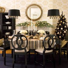 Drum Shade over Chandelier.  I love this I did it to my dining room.  It looks fabulous.  Black drum shade over gold petite chandelier with crystals.  Elegant!
