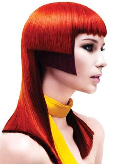 Two tone high fashion runway hairstyle