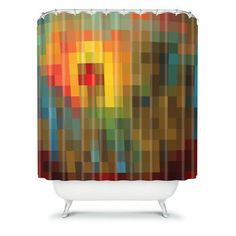 Deny Designs - madart inc Glorious Colors Shower Curtain - Shower Curtains Contemporary Shower, Modern Shower, Textiles, Yellow And Brown, Modern Graphic Design, Home Decor Accessories, Shower Accessories, All Modern, Shopping