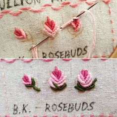 Crewel Embroidery - Long & Short as Soft Shading in Colors - Embroidery Patterns Crewel Embroidery Kits, Floral Embroidery Patterns, Hand Embroidery Tutorial, Embroidery Flowers Pattern, Learn Embroidery, Silk Ribbon Embroidery, Hand Embroidery Designs, Embroidery Needles, Creative Embroidery
