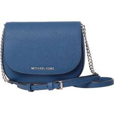 MICHAEL Michael Kors Shoulder Bags ($120) found on Polyvore featuring women's fashion, bags, handbags, shoulder bags, bags and purses, steel blue, shoulder hand bags, travel shoulder bag, travel purse and blue hand bag