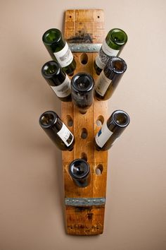 Napa Barrel Stave Wall Wine Rack - 16 Bottles. $175.00, via Etsy.