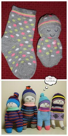 DIY Sock Doll Free Sewing Patterns + Video - Diy and crafts interests Diy Doll Pattern, Doll Patterns Free, Crochet Dolls Free Patterns, Doll Sewing Patterns, Pattern Fabric, Free Crochet, Diy Sock Toys, Sock Crafts, Art Crafts