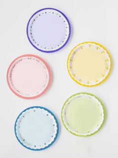 """Love this one!  Paper plates are easy to color and he will love finding the right color.  Also going to put numbers in the middle so we can switch it up.. """"yellow, 4, red""""."""