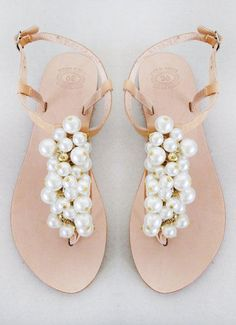 Wedding shoes Handmade Sandals decorated