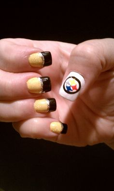 My Steeler nails last super bowl