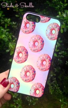 Iphone 5 5S Phone Case Donuts Cake Pink Print by StudsandSkulls