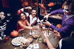 We know how much you want to make your Halloween party the best there's ever been. That's why we've put together a simple Halloween party checklist, so you can tick off as you go and make sure your spooky snacks, demonic decorations, creepy costumes and bloodcurdling beverages are top notch. 1. Frightening food 2. Disgusting drinks 3. Spooky sweets  4. Terrifying tableware 5. Dreadful decorations  6. Creepy costumes 7. Ghoulish games Easy Halloween, Halloween Party, Creepy Costumes, Party Checklist, Beverages, Drinks, Activities For Kids, Sweets, Decorations