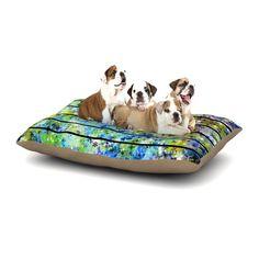 "Ebi Emporium ""Stripes & Snowflakes"" Blue Green Dog Bed"