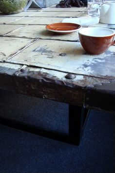 BIJOU LIVING: How To Make An Industrial Chic Table