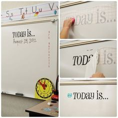 36 Clever DIY Ways To Decorate Your Classroom. Some clever ideas like the one pictured, and some that I know I would never waste time on. :)