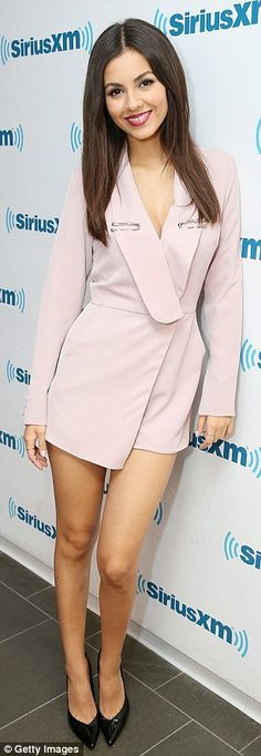 Dressed to kill! Christina Milian and Victoria Justice both rocked killer outfits as they promoted the upcoming comedy at SiriusXM in NewYork on Wednesday