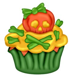 *✿*DULCES TERRORIFICOS*✿* Halloween Ii, Halloween Drawings, Halloween Cards, Holidays Halloween, Vintage Halloween, Happy Halloween, Cupcake Kunst, Cupcake Art, Cupcake Illustration