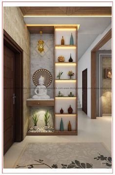 Living Room Partition Design, Pooja Room Door Design, Room Partition Designs, Living Room Divider, Foyer Design, Home Room Design, Home Interior Design, Living Room Designs, Wooden Partition Design