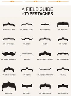 """Typographic moustaches.  This cracks me up! I'll never look at """"brackets"""" the same!"""