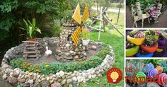 Pozrite sa, aké úžasné veci do záhrady môžete vytvoriť z plastových fliaš, starých pneumatík, kameňov alebo nefunkčných CD.