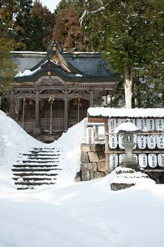 Snow in Hachiman shrine, Miyama, Nantan, Kyoto, Japan