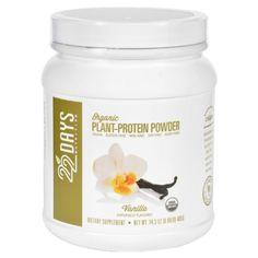 22 Days Nutrition Plant Protein Powder - Organic - Vanilla - 14.3 oz