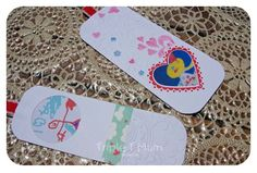 {Triple T Mum} Kids art valentines day keepsakes. Create bookmarks using your child's art work. Would make a special gift for family members.