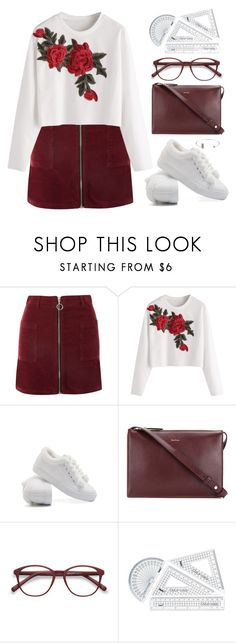"""School Time"" by deeyanago ❤ liked on Polyvore featuring Topshop, Paul Smith and EyeBuyDirect.com"