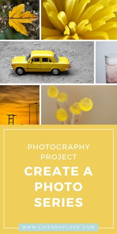 Creativity Exercise: Produce a Photo Series Grow your photography skills with a photography project! Photography Themes, Photography Series, Photography Challenge, Photography Basics, Photography Lessons, Photography For Beginners, Photoshop Photography, Photography Projects, Photography Tutorials