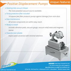 Positive Displacement Pumps Unique Features....http://www.swiftauxi.com/positive-displacement-pumps.html #PositiveDisplacementPumps #PositiveDisplacementPumpsManufacturer #PositiveDisplacementPumpsSuppliers #PositiveDisplacementPumpsTraders #PositiveDisplacementPumpsExporters W:http://www.swiftauxi.com/ M:+91 97247 97978