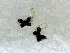 """Boucles d'oreilles recyclage pellicule photo """"Papillon"""" : Boucles d'oreille par made-in-maud"""