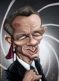 Image result for caricature james bond