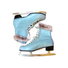 Pre-Owned Hawthorne Blue Ice Skates ($249) ❤ liked on Polyvore featuring home, home decor, shoes, blue, boots, ice skates, winter, decorative accessories, blue home accessories and vintage home accessories