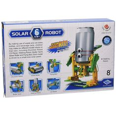Kit Juguete Educativo Robot Reciclator – Cebekit | Mundoikos #juguetes Kit, Solar Panels, Bottle, How To Make, Educational Toys, Recycled Materials, Store, Sun Panels, Solar Power Panels