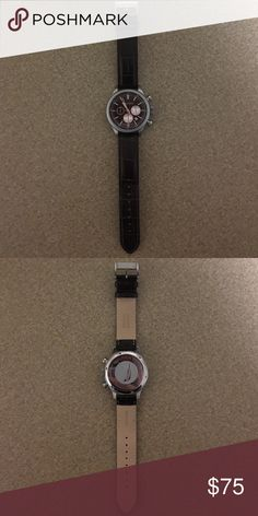 Nautica leather band watch Good condition. Clean. Small scratches on back of face. Nautica Accessories Watches
