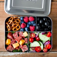 Amazon.com: LunchBots Bento Cinco Large Stainless Steel Food Container - Five…