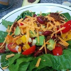 """Taco Salad with Lime Vinegar DressingI """"Great salad, loved it! My husband is not a salad lover but he had two big helpings so he was impressed!"""""""