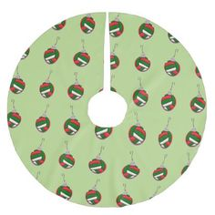 Volleyball Christmas Brushed Polyester Tree Skirt - pattern sample design template diy cyo customize