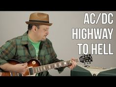 AC/DC - Highway to Hell - Guitar Lesson - How to Play Electric Guitar TutorialC Blues Guitar Lessons, Electric Guitar Lessons, Basic Guitar Lessons, Online Guitar Lessons, Guitar Lessons For Beginners, Electric Guitars, Music Lessons, Easy Guitar, Guitar Tips